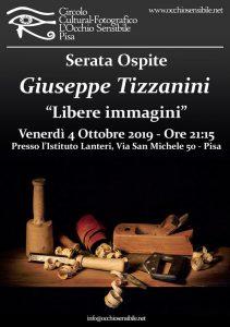 locandina serata ospite Giuseppe Tizzanini 2019